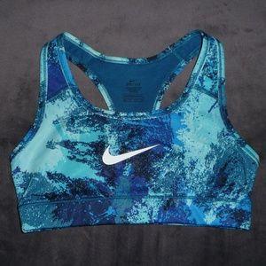 NWOT Nike Dri-Fit Printed Classic Swoosh Bra XS